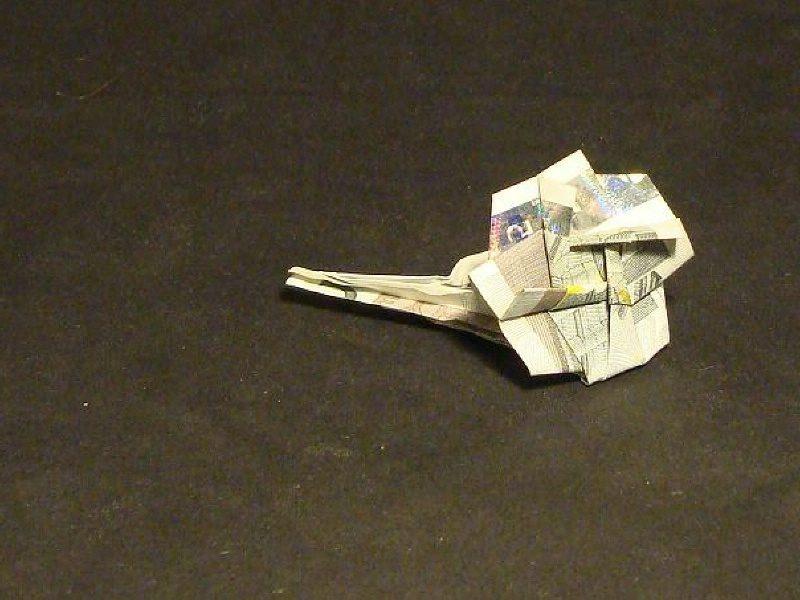 Geldschein zur Blume falten DIY Ideen