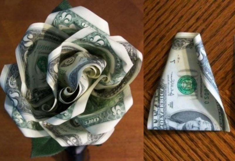 Geldschein Rose