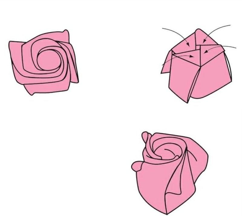Blume aus Geldschein falten Anleitung