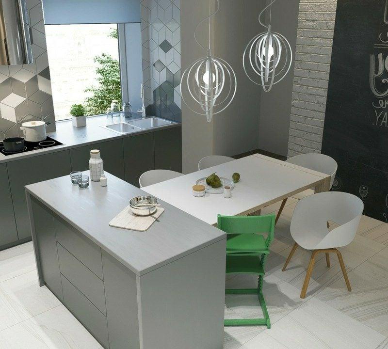 skandinavisch wohnen moderne kuche