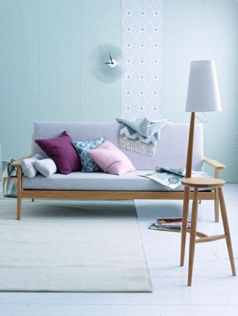 skandinavisch wohnen blasse farben