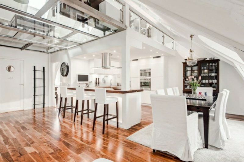 skandinavisch wohnen penthousewohnung glasboden