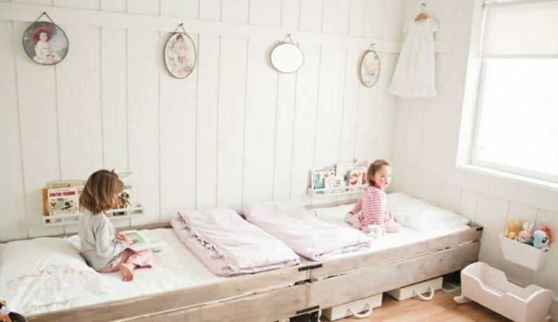 skandinavisch wohnen rustikal kinderzimmer wandverkleidung holz weiss