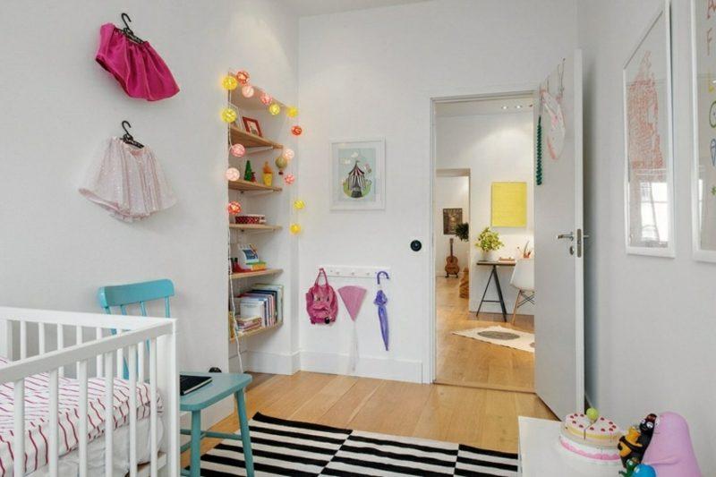 skandinavisch wohnen babyzimmer wandnische