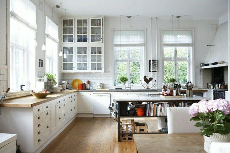 skandinavisch wohnen wohnen kuecheninsel schwarz modern