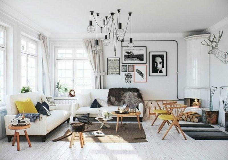 skandinavisch wohnen wohnzimmer einrichtung