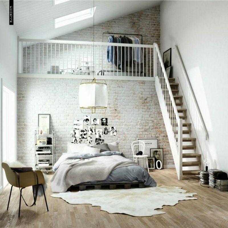 skandinavisch wohnen schlafzimmer paletten