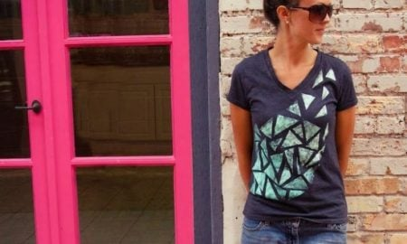 T-Shirt mit geometrischen Motiven