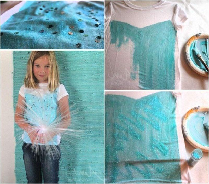 DIY Ideen Kinder T-Shirts selbst bedrucken