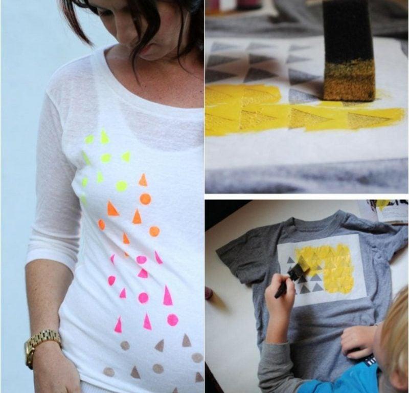 T-Shirt mit geometrischen Motiven selbst bedrucken