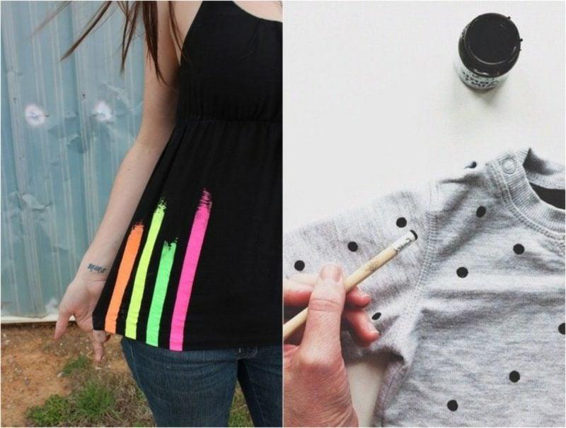 interessante T-Shirts mit Punkten und Streifen