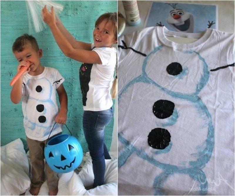 T-Shirts selbst bedrucken originelle Ideen Kinder