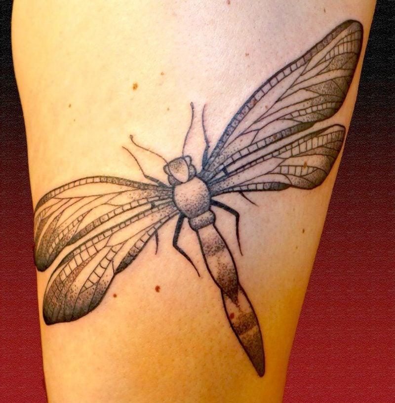 originelle Tattoomotive Libelle