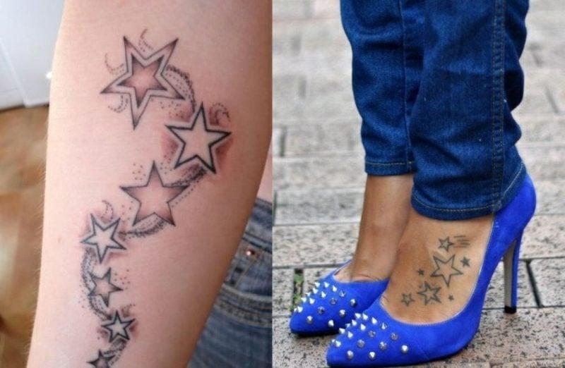 die besten Tattoos für Frauen Sterne