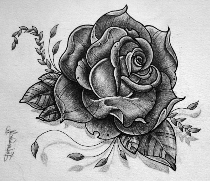 Rose Tattoo Vorlage
