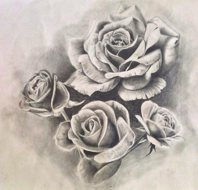 Rosen Tattoo Vorlage originelle Tattoos für Frauen