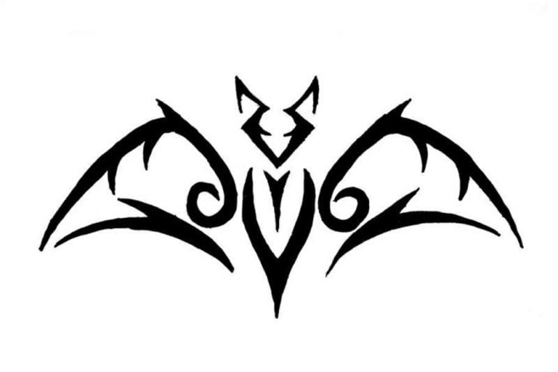 Fledermaus Tattoovorlagen für Unterarm