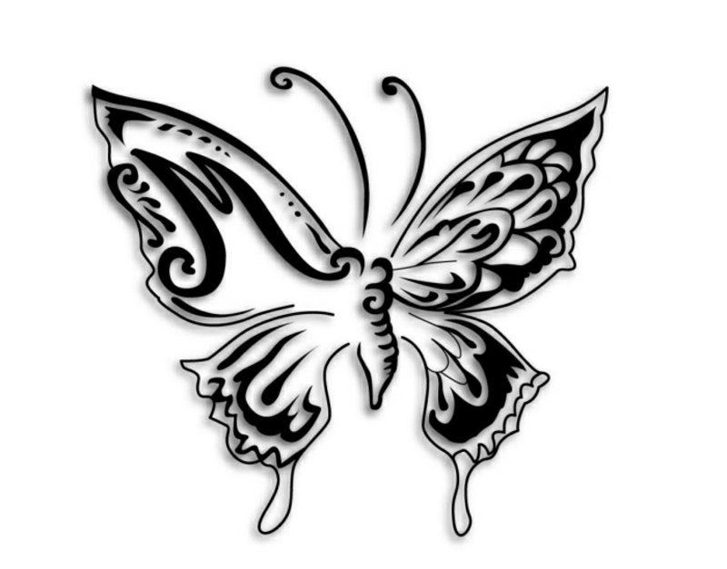 stilisierter Schmetterling Tattoovorlagen für Unterarm
