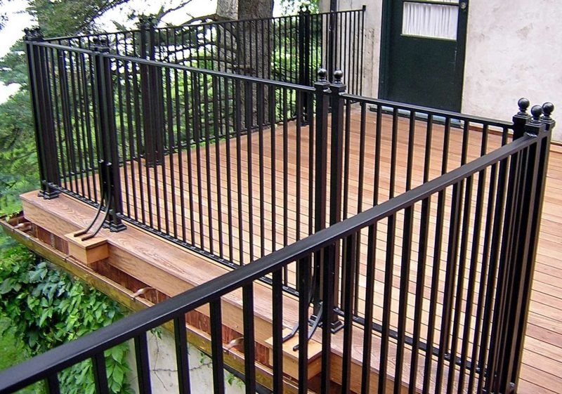 terrassengelander iron deck railing systems