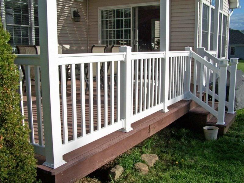 terrassengelander vinyl railing installed