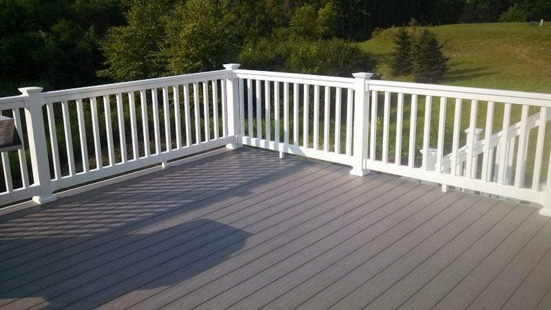 terrassengelander white vinyl deck railing