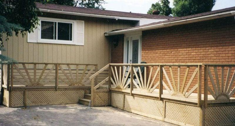 terrassengelander wood deck railings