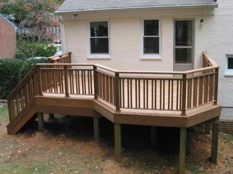 terrassengelander wooden porch railings