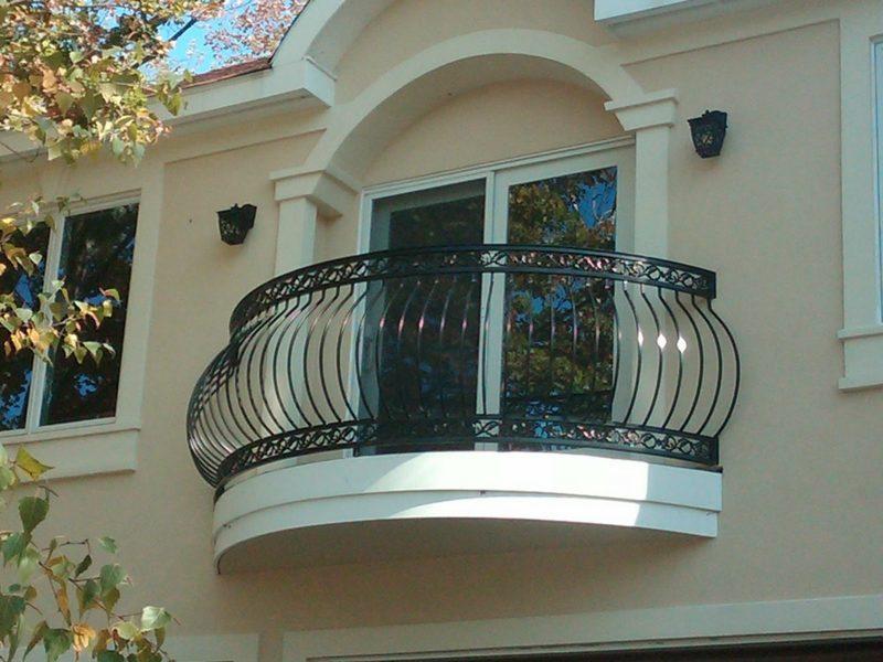 terrassengelander curved railing blum black