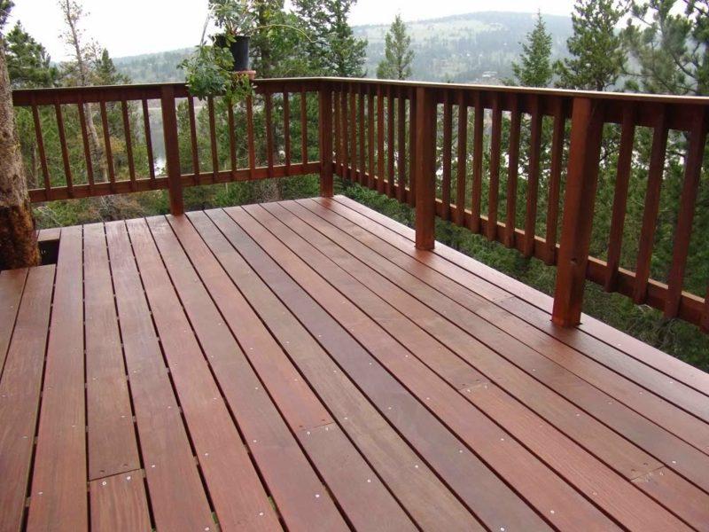 terrassengelander wood deck