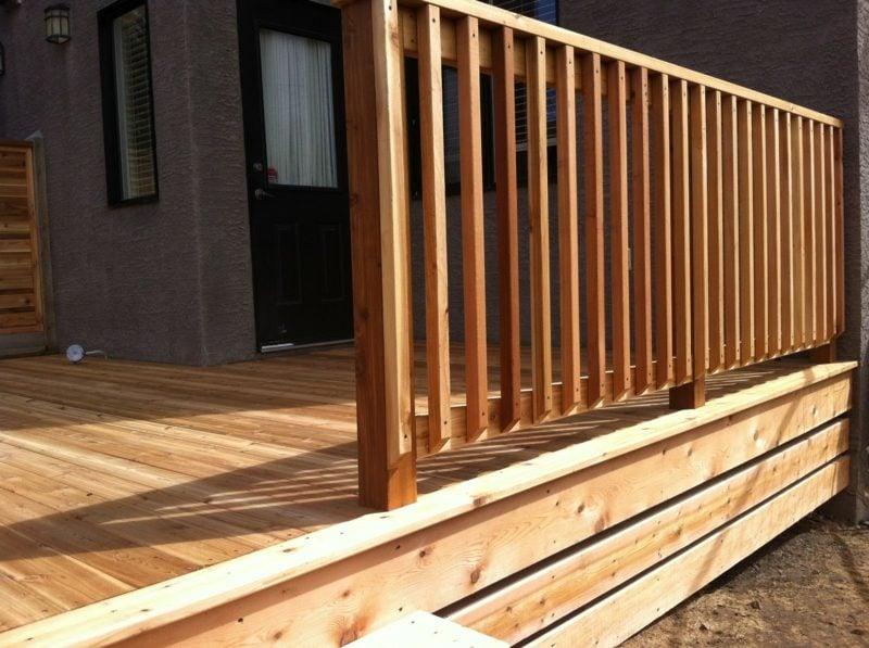 terrassengelander wood deck baluster designs architecture