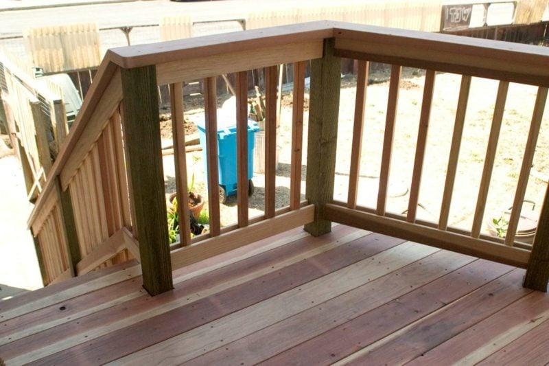 terrassengelander wood deck railing ideas