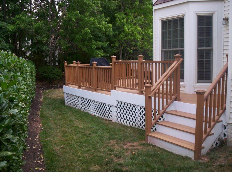 terrassengelander wood porch