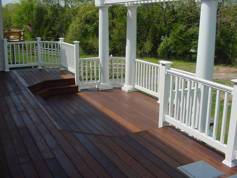 terrassengelander wooden