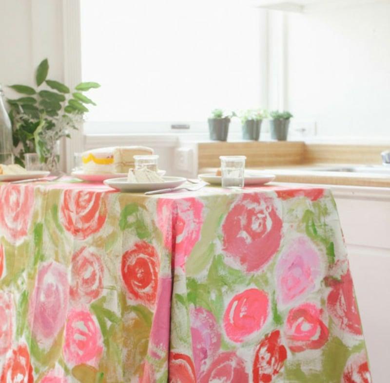 Tischdecke nähen Anleitung