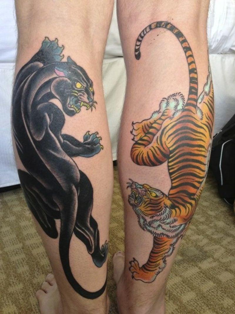 Waden Tattoo animal