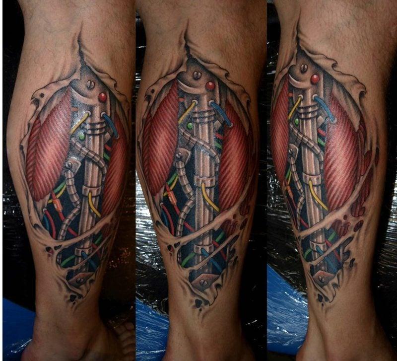 waden tattoo biomechanik
