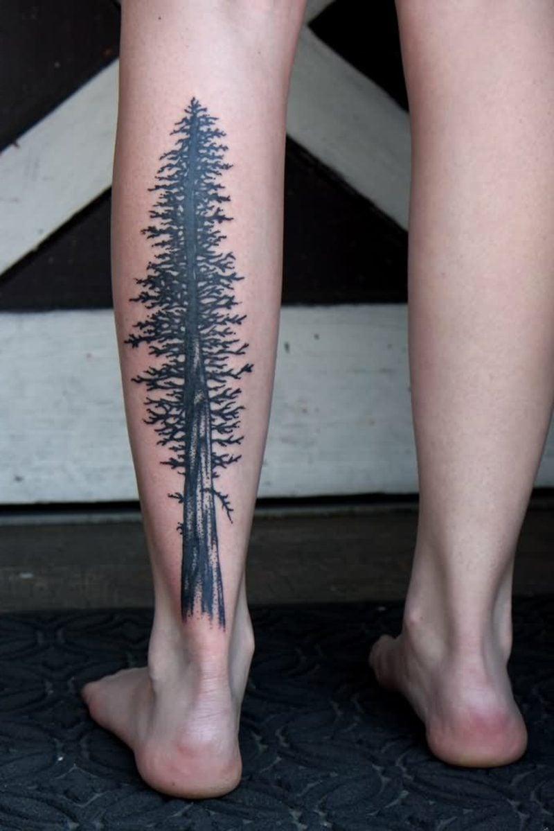 waden tattoo black redwood tree