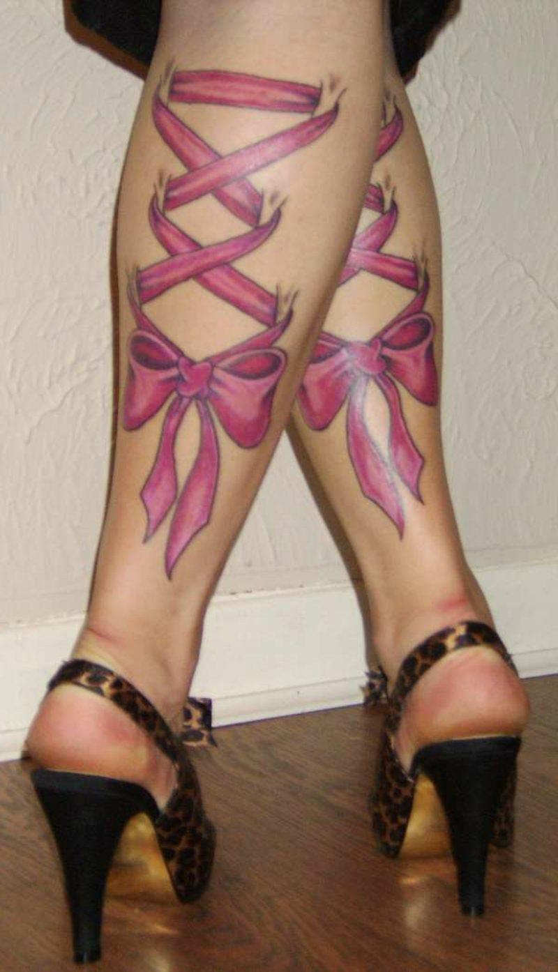 waden tattoo healed corset