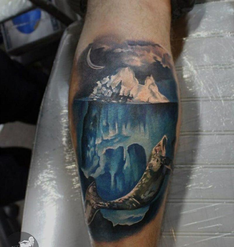waden tattoo iceberg