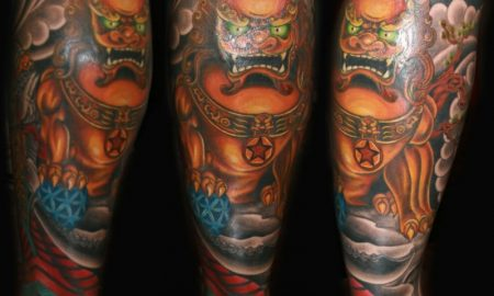 waden-tattoo-men-japanese-calf-tattoo