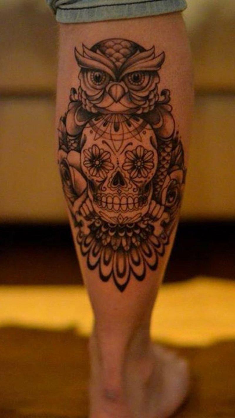 waden tattoo ideen f r m nner und frauen tattoos zenideen. Black Bedroom Furniture Sets. Home Design Ideas