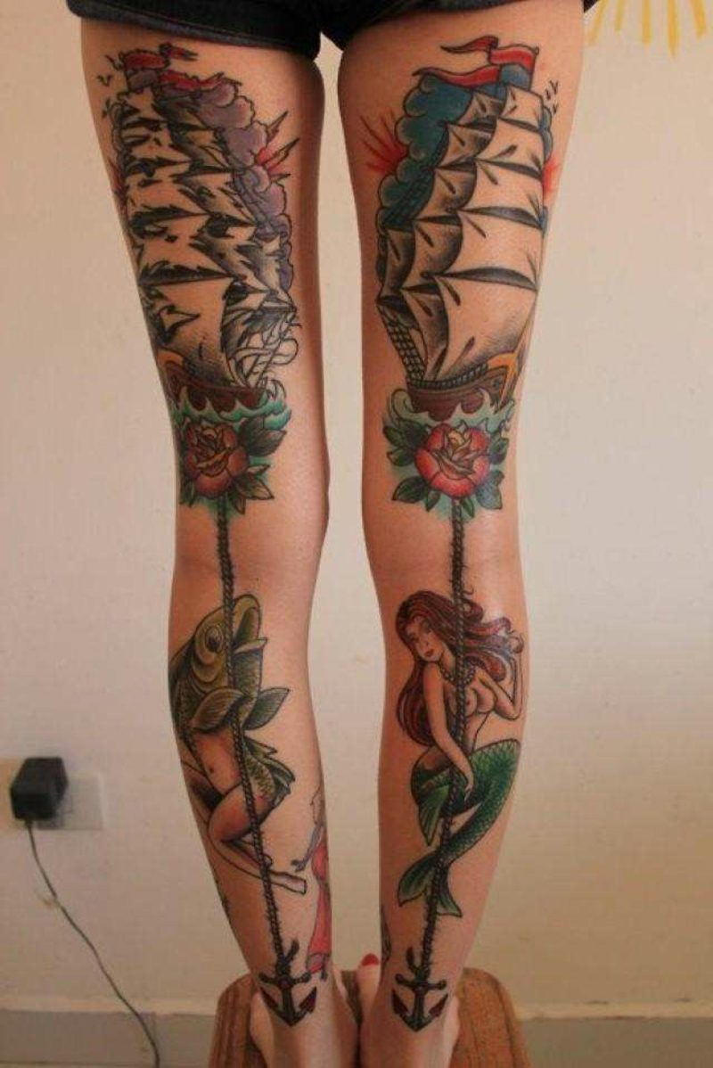 waden tattoo boat