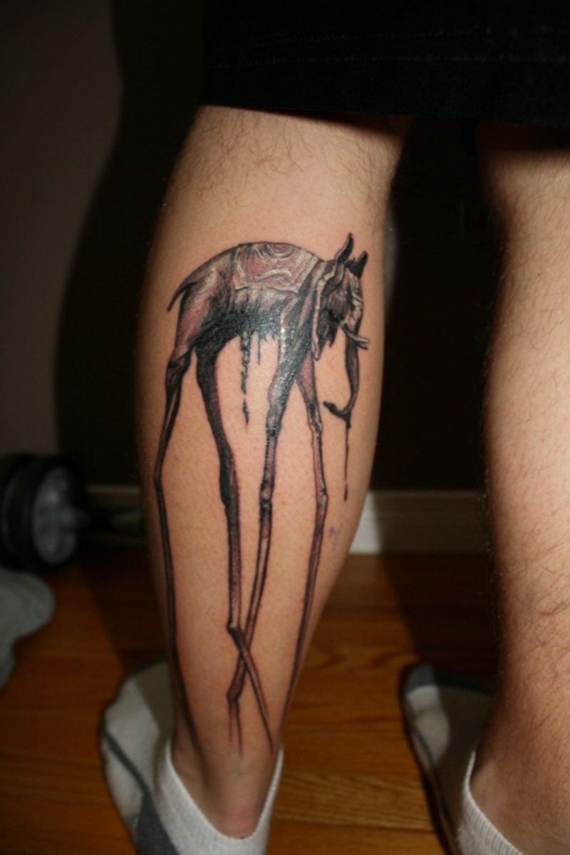 waden tattoo elephant tattoo