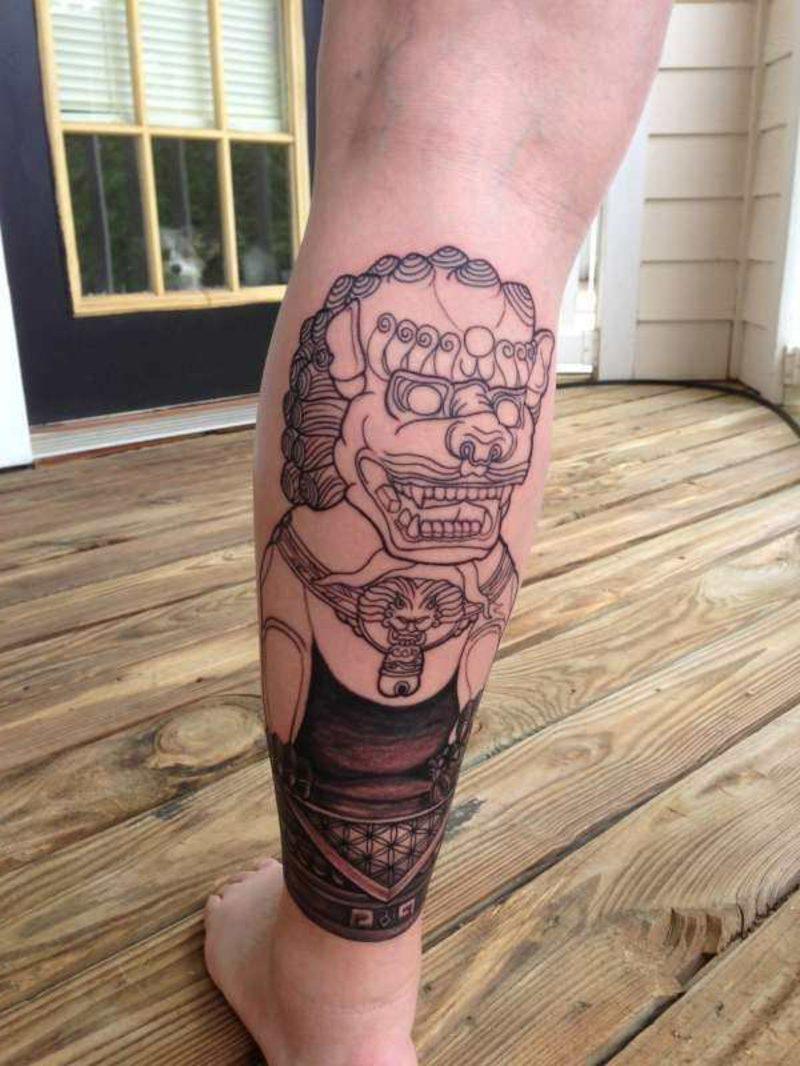 waden tattoo fog dog