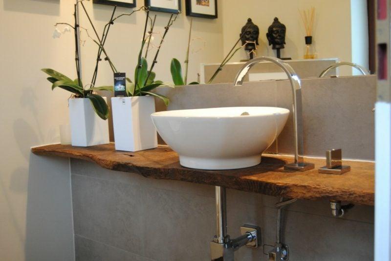 Waschtisch aus Treibholz Porzellan Waschbecken