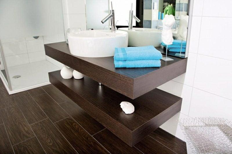 Waschtisch dunkles Holz