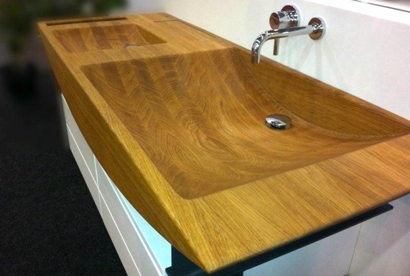 Waschtisch und Waschbecken Holz Ideen und Inspirationen