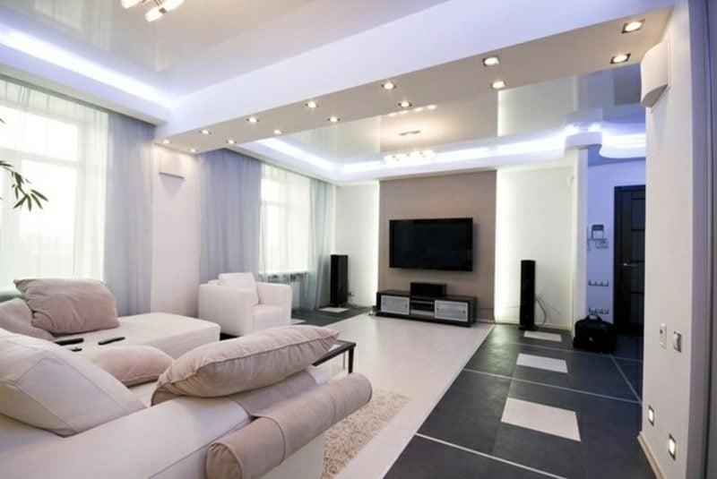 indirekte LED-Beleuchtung selber bauen Wohnzimmer