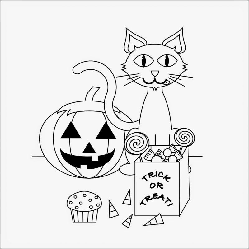 Drücken Sie Ausmalbilder für Halloween kostenlos aus