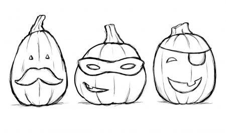 Ausmalbilder für Halloween für kleinere Kinder